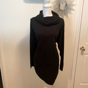Asymmetrical Cowell neck sweater